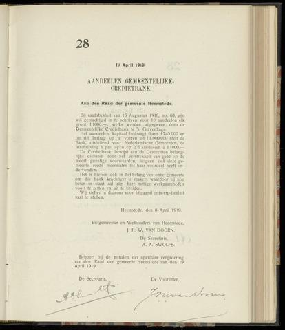 Raadsnotulen Heemstede 1919-04-19