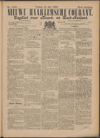 Nieuwe Haarlemsche Courant 1903-07-10