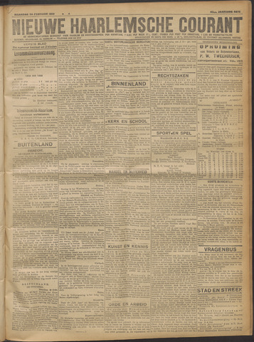 Nieuwe Haarlemsche Courant 1919-02-24