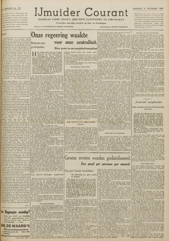 IJmuider Courant 1939-11-06