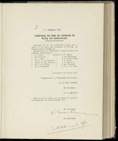 Raadsnotulen Heemstede 1913-02-20