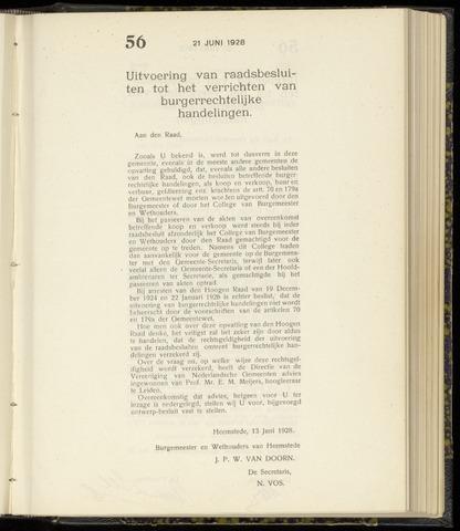 Raadsnotulen Heemstede 1928-06-21