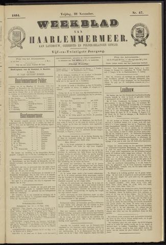 Weekblad van Haarlemmermeer 1884-11-21