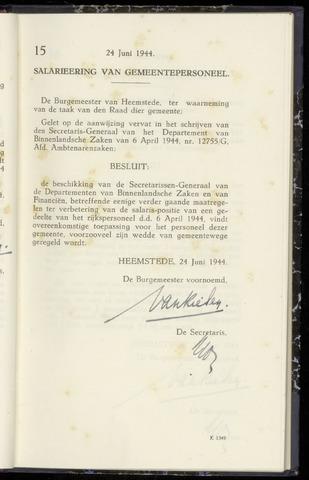 Raadsnotulen Heemstede 1944-06-24
