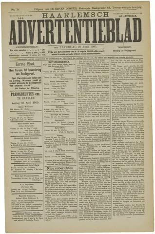 Haarlemsch Advertentieblad 1900-04-28