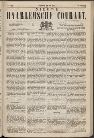 Nieuwe Haarlemsche Courant 1881-07-14