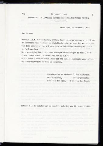 Raadsnotulen Heemstede 1988-01-28