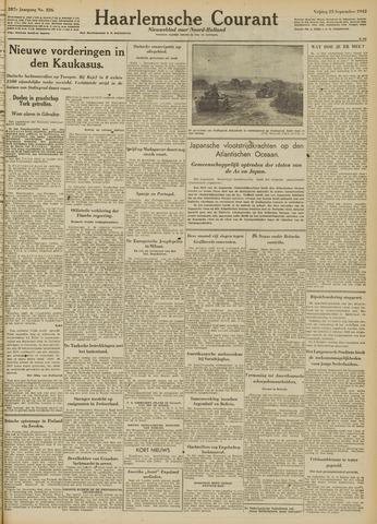 Haarlemsche Courant 1942-09-25
