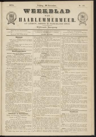 Weekblad van Haarlemmermeer 1874-11-20