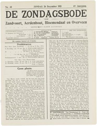 De Zondagsbode voor Zandvoort en Aerdenhout 1915-12-26