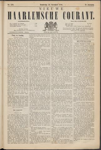Nieuwe Haarlemsche Courant 1881-11-24