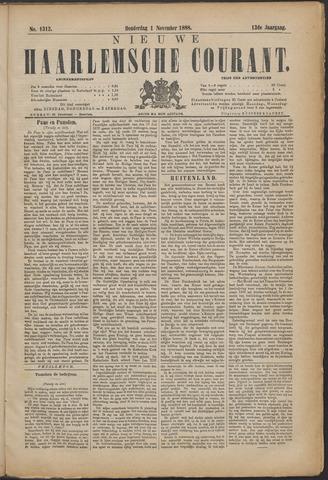 Nieuwe Haarlemsche Courant 1888-11-01