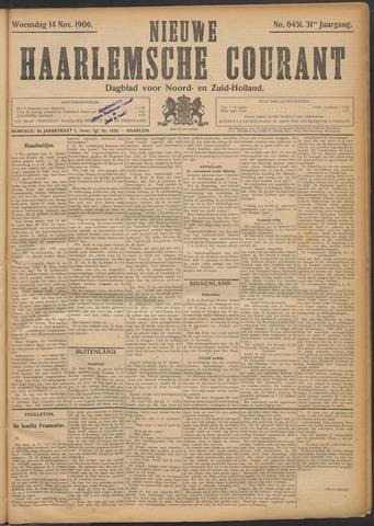 Nieuwe Haarlemsche Courant 1906-11-14