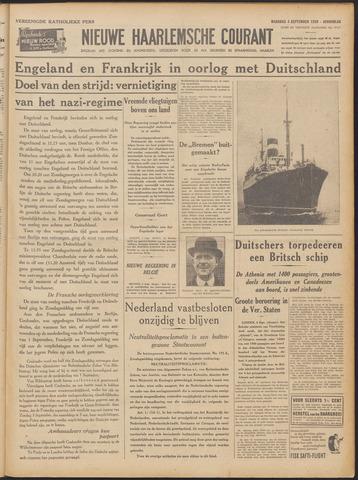 Nieuwe Haarlemsche Courant 1939-09-04