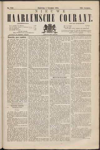 Nieuwe Haarlemsche Courant 1885-11-05