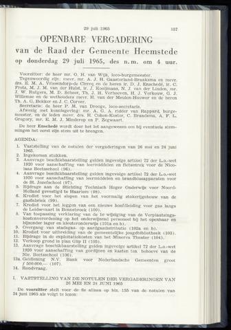 Raadsnotulen Heemstede 1965-07-29
