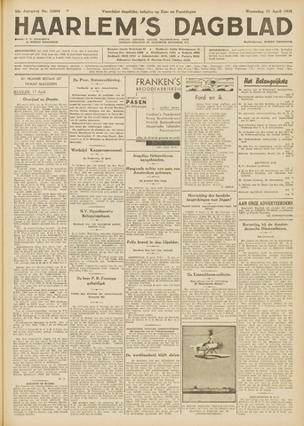 Haarlem's Dagblad 1935-04-17