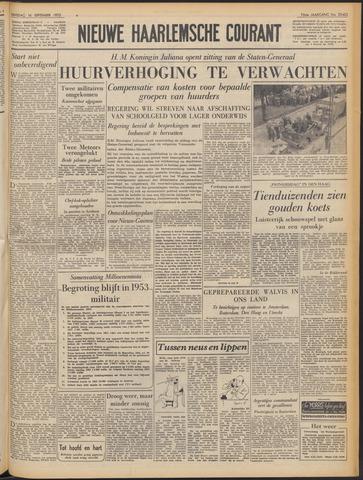 Nieuwe Haarlemsche Courant 1952-09-16