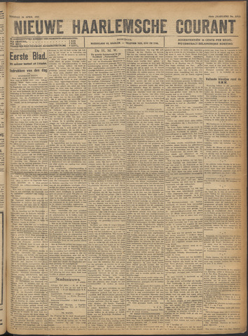 Nieuwe Haarlemsche Courant 1921-04-26