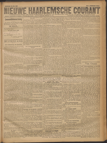 Nieuwe Haarlemsche Courant 1919-07-22