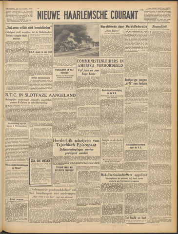 Nieuwe Haarlemsche Courant 1949-10-22