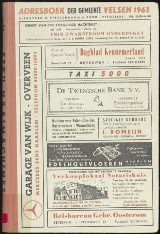 Adresboeken Velsen 1962