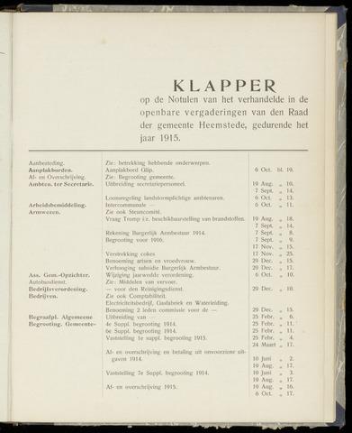 Raadsnotulen Heemstede 1915-01-01