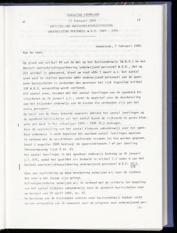 Raadsnotulen Heemstede 1989-02-23