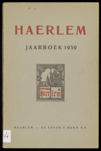 Jaarverslagen en Jaarboeken Vereniging Haerlem 1959