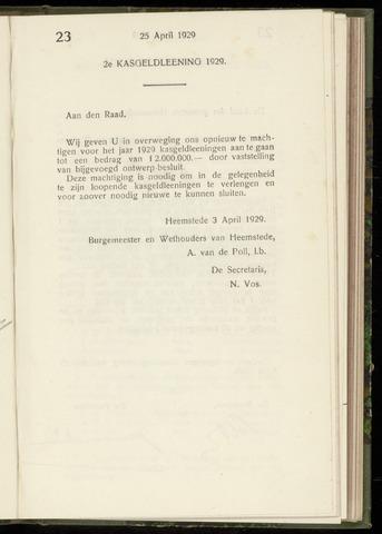 Raadsnotulen Heemstede 1929-04-25