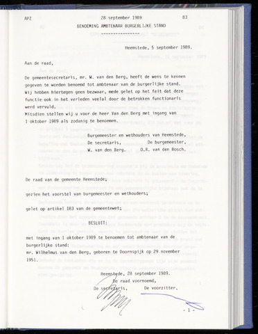 Raadsnotulen Heemstede 1989-09-28