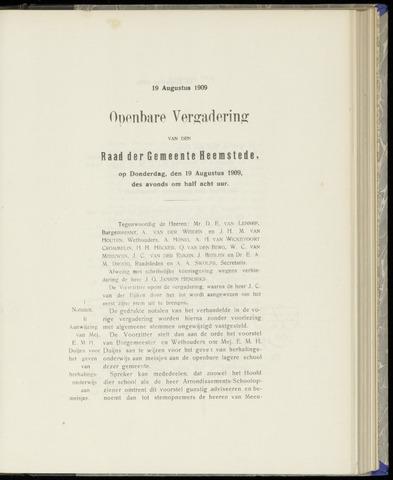 Raadsnotulen Heemstede 1909-08-19