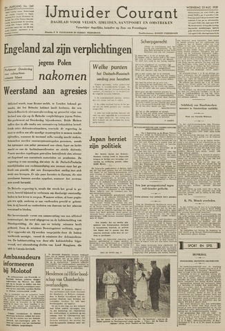 IJmuider Courant 1939-08-23