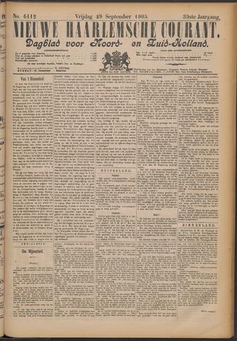 Nieuwe Haarlemsche Courant 1905-09-29