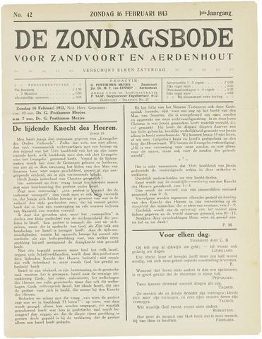 De Zondagsbode voor Zandvoort en Aerdenhout 1913-02-16