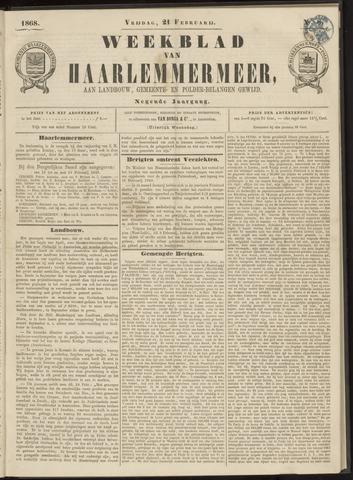 Weekblad van Haarlemmermeer 1868-02-21