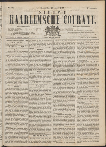 Nieuwe Haarlemsche Courant 1877-04-26