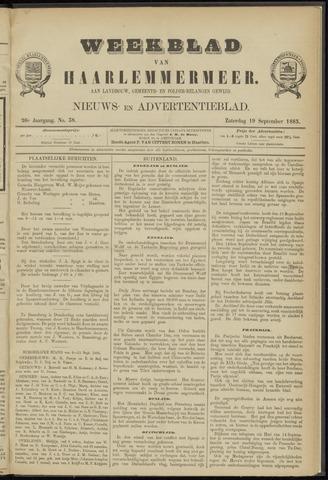 Weekblad van Haarlemmermeer 1885-09-19