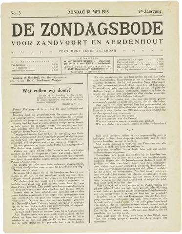 De Zondagsbode voor Zandvoort en Aerdenhout 1913-05-18