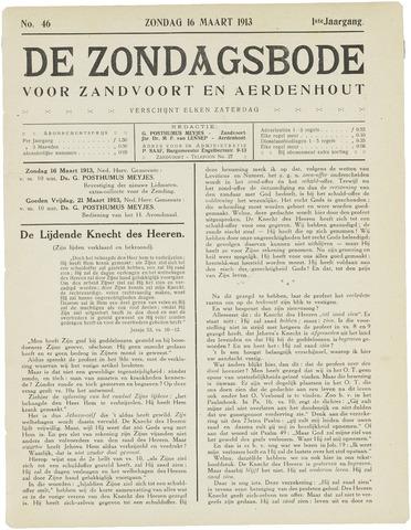 De Zondagsbode voor Zandvoort en Aerdenhout 1913-03-16