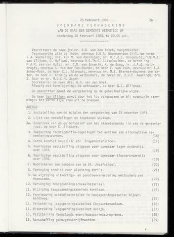 Raadsnotulen Heemstede 1980-02-28