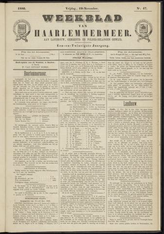 Weekblad van Haarlemmermeer 1880-11-19