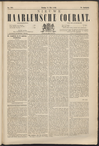 Nieuwe Haarlemsche Courant 1884-05-11