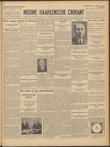 Nieuwe Haarlemsche Courant 1934-04-21