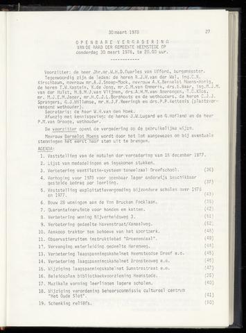 Raadsnotulen Heemstede 1978-03-30