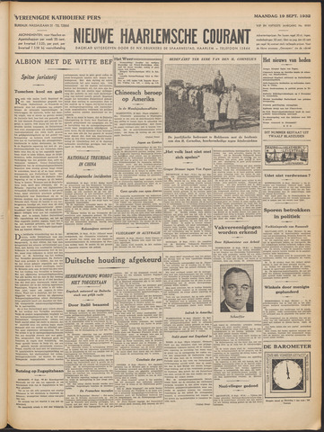 Nieuwe Haarlemsche Courant 1932-09-19
