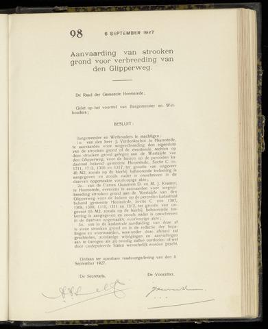 Raadsnotulen Heemstede 1927-09-06