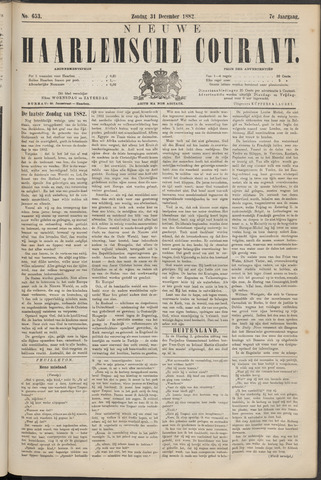 Nieuwe Haarlemsche Courant 1882-12-31