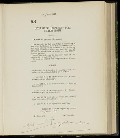 Raadsnotulen Heemstede 1920-06-30