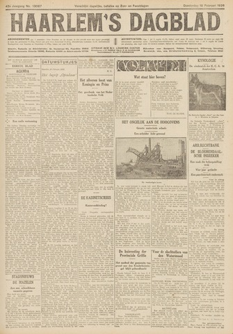 Haarlem's Dagblad 1926-02-18